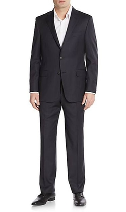 Hickey Freeman  - Regular-Fit Tonal Striped Wool Suit
