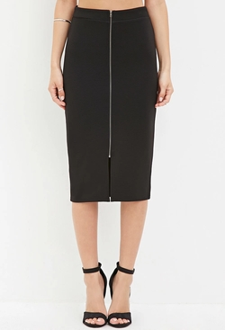 Forever21 - Zip-Front Pencil Skirt