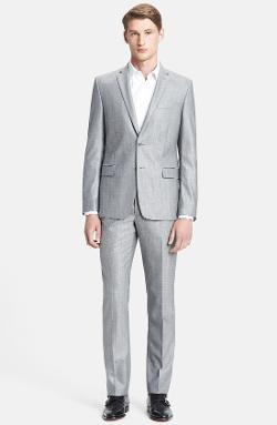 Versace  - Trend Fit Textured Wool Suit