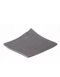 Black Brown 1826  - 4 Panel Houndstooth Pocket Square