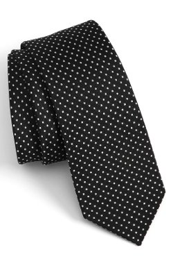 The Tie Bar - Pin Dot Silk Tie