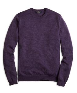 Brooks Brothers - Saxxon Wool Crewneck Sweater
