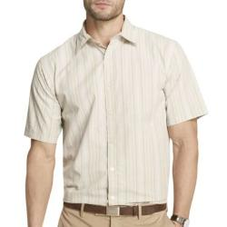 Van Heusen - Short-Sleeve Textured Stripe Shirt