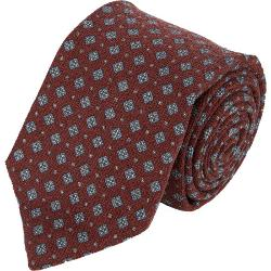Isaia  - Floral Medallion Neck Tie