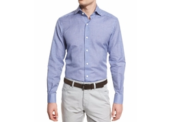 Ermenegildo Zegna  - Check Long-Sleeve Sport Shirt