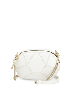 Poverty Flats by Rian - Geometric Faux-Leather Crossbody Bag