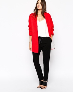Asos Discover Fashion Online - Sisley Coat In Bright Red