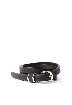 Forever 21 - Skinny Faux Leather Belt