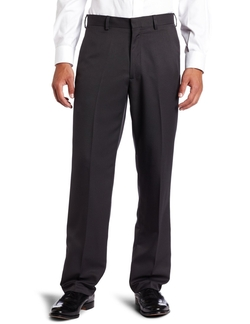 Haggar - Textured Stripe Plain Front Pants