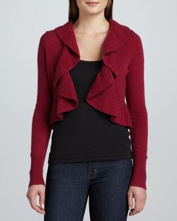 NM Exclusive  - Cashmere Ruffle-Trim Bolero