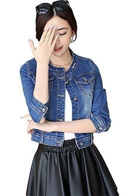 Solilor - Slim-fit Denim Short Coat