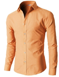 H2H  - Oxford Cotton Slim Fit Button-Down Shirts