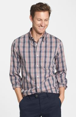 Nordstrom  - Smartcare Wrinkle Free Trim Fit Plaid Sport Shirt