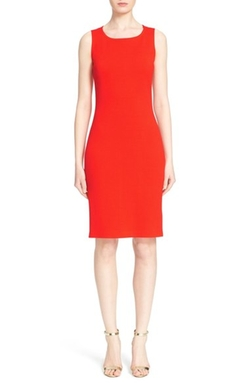 St. John Collection  - Scoop Neck Milano Knit Sheath Dress