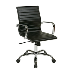 Office Star - Thick Padded Office Chair With Built-In Lumbar Support