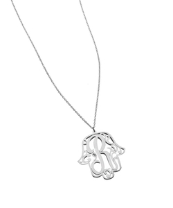 West Avenue Jewelry - Hamsa Monogram Necklace