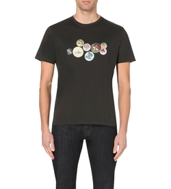 Paul Smith Jeans - Badge-Print Cotton-Jersey T-Shirt