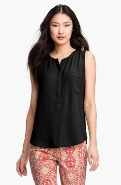 NYDJ  - Sleeveless Henley Blouse