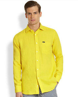 Faconnable  - Solid Linen Sportshirt