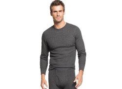 Alfani - Waffle Knit Thermal Long Sleeve T Shirt