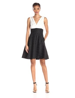 Erin Erin Fetherston - Colorblock Teresa Fit & Flare Dress