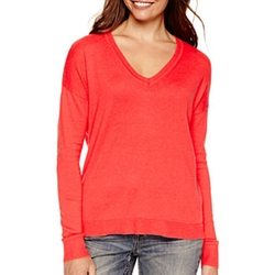 A.N.A - V-Neck High-Low Sweater