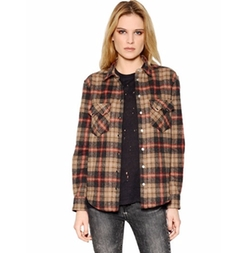 IRO - Plaid Cotton & Wool Blend Shirt