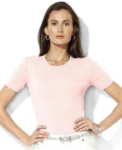 Lauren Ralph Lauren  - Short-Sleeve Crew-Neck Top