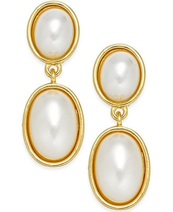Charter Club - Imitation Pearl Double Drop Earrings