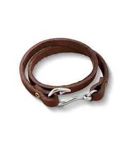 James Avery Jewelry - Fish Hook Leather Bracelet