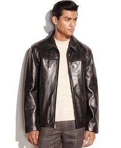Cole Haan  - Smooth Leather Jacket