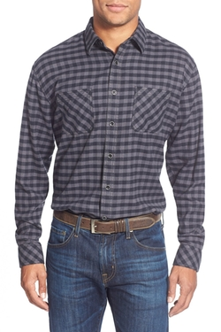 James Campbell  - Paradigm Regular Fit Gingham Sport Shirt