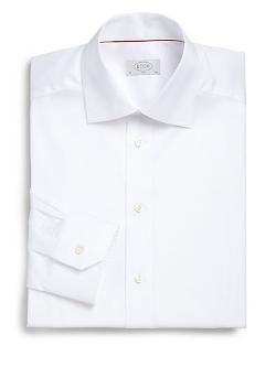 Eton of Sweden  - Slim-Fit Solid Twill Dress Shirt
