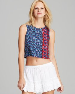 Raga -  Printed Knit Crop Tank