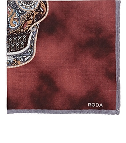 Roda - Paisley-Skull Pocket Square