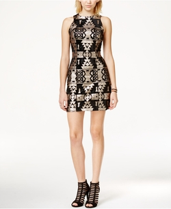 Trixxi - Sequin Velvet Sheath Dress