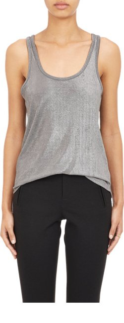 ATM Anthony Thomas Melillo - Metallic Slinky Knit Tank