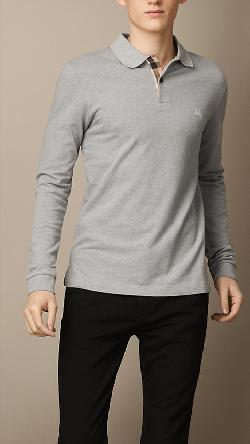 Burberry - LONG SLEEVE POLO SHIRT