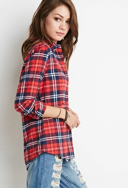 Forever21 - Classic Plaid Flannel Shirt