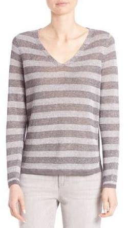 Eileen Fisher - Striped Linen Sweater