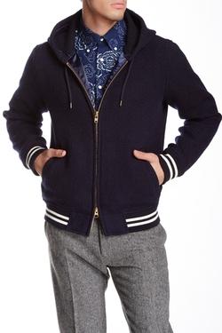 Gant Rugger - Wool Blend Zip Varsity Jacket