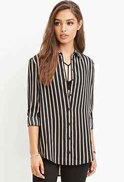 Forever 21 - Drapey Striped Shirt