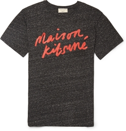 Maison Kitsuné - Printed Cotton-Blend Jersey T-Shirt