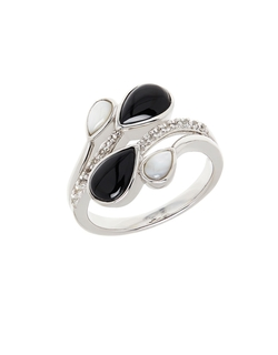 Lord & Taylor - Onyx Opal Diamond Ring