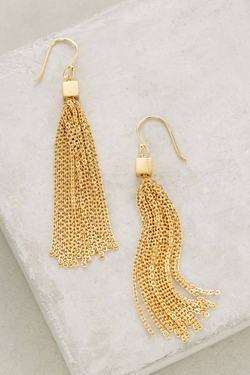 Anthropology - Cubed Tassel Drop Earrings