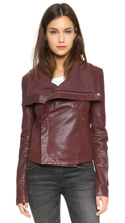 Veda - Max Classic Leather Moto Jacket