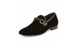 Salvatore Ferragamo  - Party Velvet Gancini Loafer