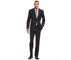 Sean John  - Wide Windowpane Classic-Fit Suit
