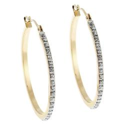 Target - 14Kt. Yellow Gold Diamond Accent Round Hoop Earrings