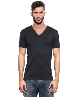 Dolce & Gabbana - Cotton Jersey V Neck T-Shirt